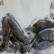 Sylvie couchée à contre-jour