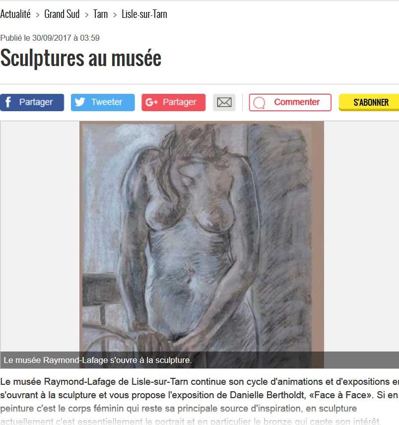 sculptures au musée, la Dépêche