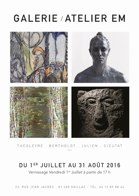 affiche expo galerie EM